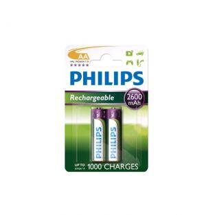 Philips - 2 HR6 AA Rechargeables batteries