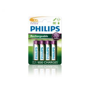 Philips - 4 x Rechargeable AA Batteries