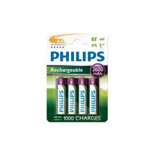 Philips - 4 HR6 AA 2600mAh Rechargeable batteries