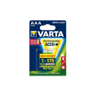 VARTA - 4 HR03 AAA 800mAh Rechargeable batteries