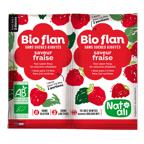 Natali - Bioflan Fraise sans sucre 8g