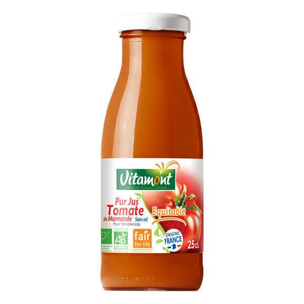 Vitamont - Mini jus de tomate de Marmande sans sel 25cl
