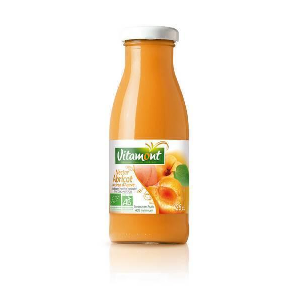 Vitamont - Mini Nectar d'Abricots Bio des pyrénées orientales 25cL