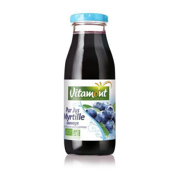 Vitamont - Pur Jus de Myrtilles Bio 50cL