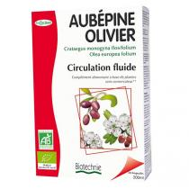 Biotechnie - Aubépine Olivier Bio 20 Ampoules