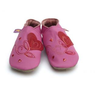 Starchild - Chaussons cuir Starchild Coeur Rose