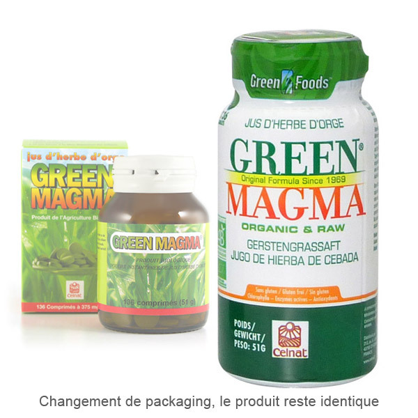Celnat - Green Magma Jus d'Herbe d'Orge x 136 comprimes