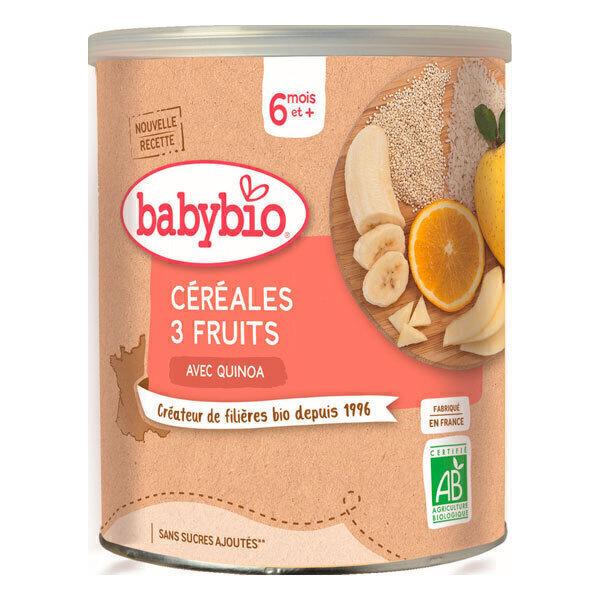 Babybio - Céréales 3 fruits quinoa 220g - Dès 6 mois