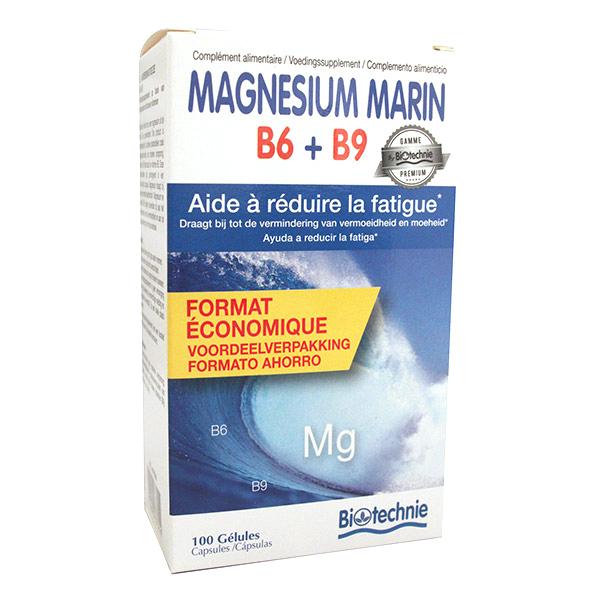 Biotechnie - Magnésium Marin B6 + B9 x 100 gélules