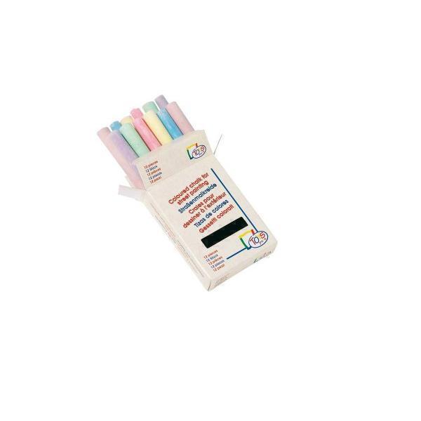 Ecodis - 12 Coloured Chalk Sticks