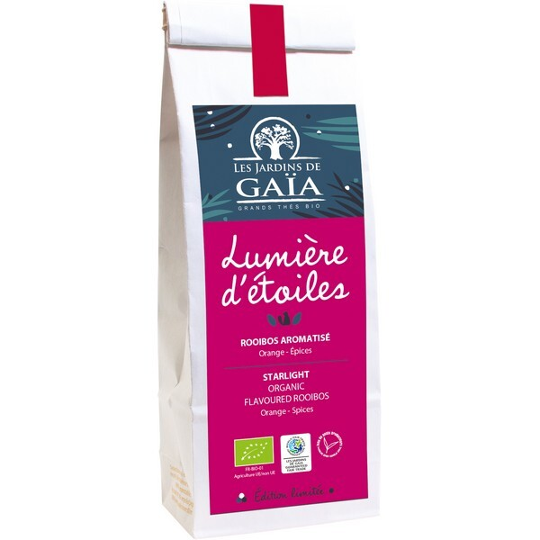 Les jardins de Gaïa - Rooibos Lumière d'étoiles Orange épices 100g
