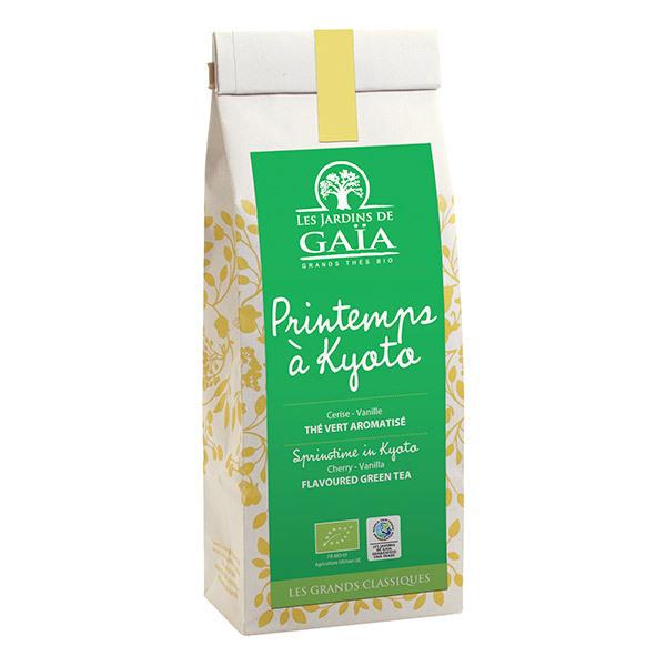 Les jardins de Gaïa - Thé vert PRINTEMPS A KYOTO Cerise Vanille 100g