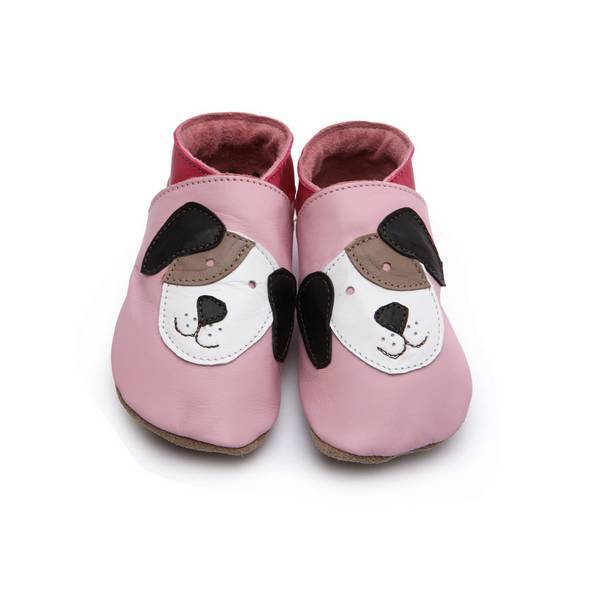 """Starchild - Chaussons cuir Starchild """"Pooch Baby """" Rose"""