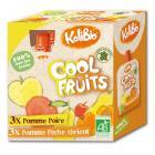Kalibio - Compotes Pomme Poire Pêche Abricot x 6 Gourdes