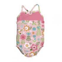 I Play - Badeanzug Blumenmotiv 0-3 Jahre
