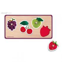 Janod - Puzzle Quadrifruits Fleurus
