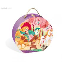 Janod - Valisette Ronde - Puzzle Princesse & Carosse 54 pcs