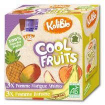 Kalibio - Compotes Pomme Banane Mangue Ananas x 6 Gourdes