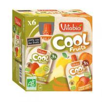 Vitabio - Compotes Pomme Poire Pêche Abricot x 6 Gourdes