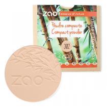 Zao MakeUp - Recharge Poudre compacte 302 Beige orangé