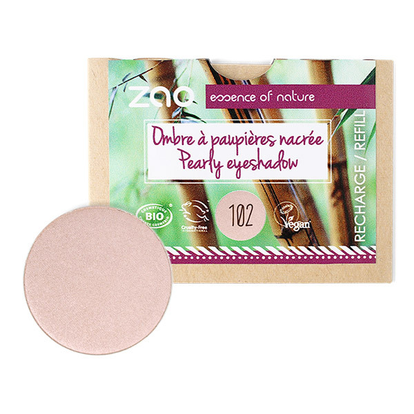 Zao MakeUp - Recharge Ombre a paupieres nacree 102 Beige rose