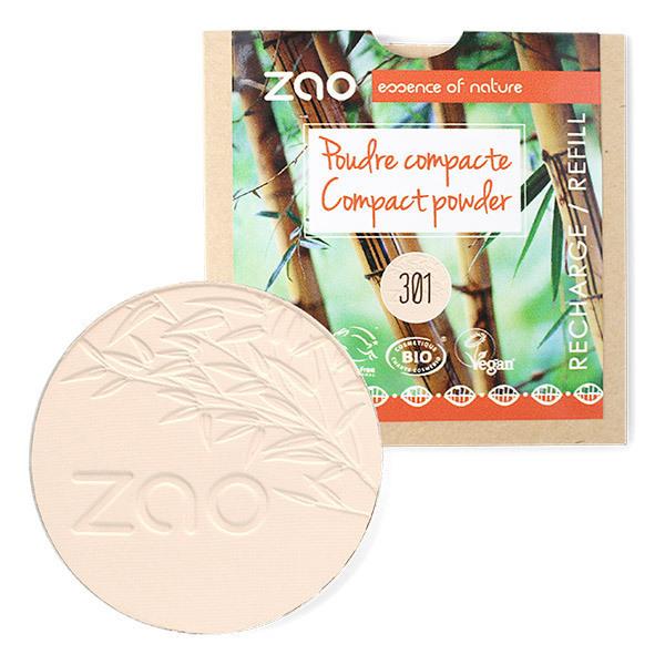 Zao MakeUp - Recharge Poudre compacte 301 Ivoire