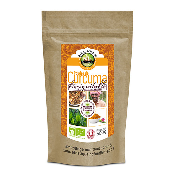 Ecoidées - Curcuma en poudre 500g