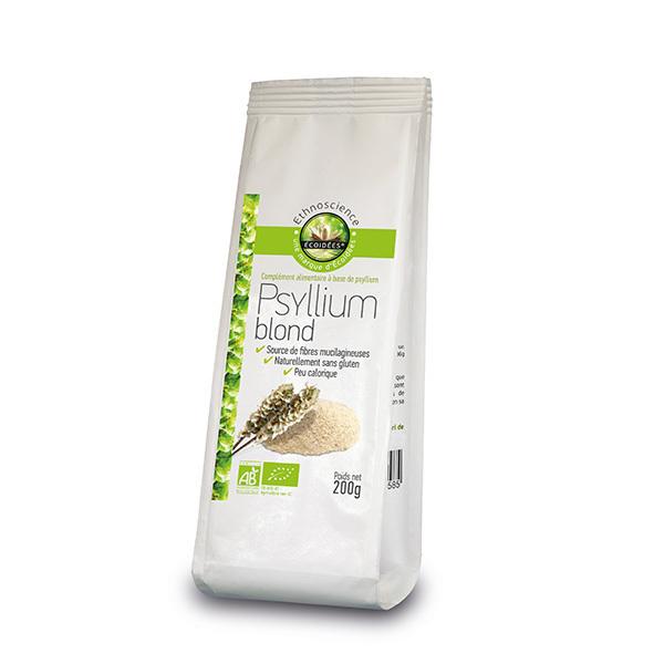 Ecoidées - Psyllium blond en poudre 200g