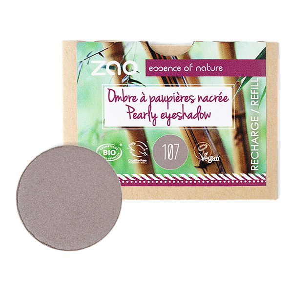 Zao MakeUp - Recharge Ombre a paupieres 107 Brun gris