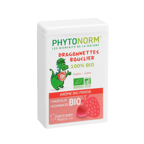 Phytonorm - Dragonnettes Shield chewable gum drops - Strawberry flavour