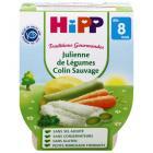 HiPP - 2 Bols Légumes Colin sauvage Bio 8 mois 190 gr