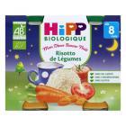 Hipp - 2 Petits pots Risotto de légumes Bio