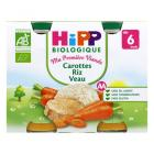 HiPP - carrots rice veal 2 jars x190g