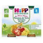 Hipp - 2 pots P. de terre Tomates Poulet