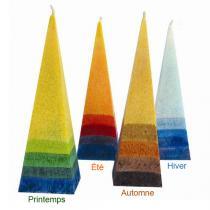 Blue - Kleine Pyramidenkerze in Herbstfarben