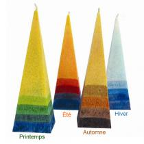 Blue - Kleine Pyramidenkerze in Sommerfarben