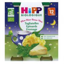 HiPP - 2 Petits pots Tagliatelles Epinards 12 mois