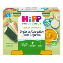 HiPP - 2 pots Gratin courgettes dès 8 mois 2x190g Mon Diner Bonne Nuit