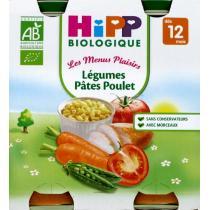 HiPP - 2 pots Légumes Pâtes Poulet Bio 12 mois