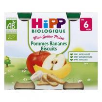 Hipp - 2 Pots Pommes Bananes Biscuits 2x190g