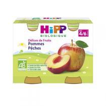 Hipp - Petits pots bio  Délices de Fruits  dès 4 mois Pommes Pêches