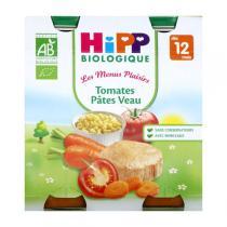 HiPP - 2 pots Tomates Pâtes Veau Bio 12 mois