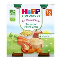 Hipp - 2 pots Tomates Pâtes Veau Bio