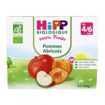 HiPP - 4 cups Apple - Apricot x100g