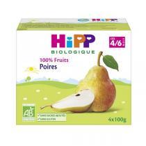 HiPP - Coupelles poires 4x100g