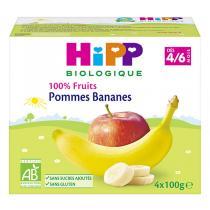 HiPP - Coupelles pommes-bananes 4 x 100g