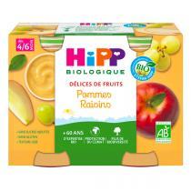 Hipp - 2 Pots Pommes Raisins Bio 2x190g