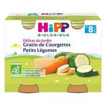 HiPP - Petits pots Gratin de Courgettes dès 8 mois - 2x190g