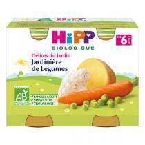HiPP - Petits pots Jardinière de Légumes Bio dès 6 mois - 2 x 190g