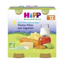 Hipp - Petits pots petites pâtes légumes dès 12 mois 2x250g